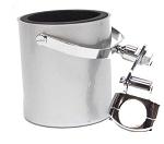 Silver Motorcycle Handlebar Drink Cup Holder
