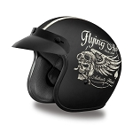DOT 3/4 Open Face Flying Aces Motorcycle Helmet