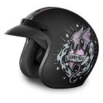 Womens DOT Good Girl Gone Bad Motorcycle Helmet