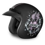 Womens DOT Good Girl Gone Bad Motorcycle Helmet