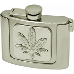 Celebrate 4/20 With Our Metal Flask Buckle