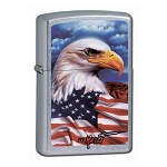 American Flag & Eagle Lighter