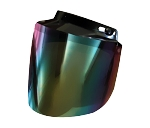 Rainbow Flip-up Motorcycle Helmet Bubble Shield
