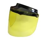Yellow Flip-up Motorcycle Helmet Bubble Shield