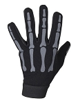 Grey Skeleton Textile Motorcycle Mechanic Gloves