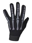 Grey Skeleton Textile Motorcycle Mechanic Gloves