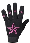 Ladies Textile Mechanic Gloves with Stars