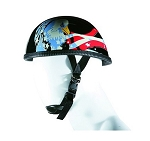 US Flag Eagle Novelty Motorcycle Helmet