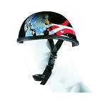 US Flag Eagle Novelty Motorcycle Helmet