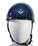 Blue Skull Graveyard Novelty Motorcycle Helmet