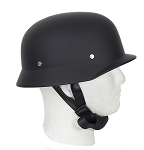 Flat Black German Novelty Motorcycle Helmet