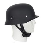 Flat Black German Novelty Motorcycle Helmet