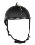 Black Novelty Motorcycle Helmet With Spikes