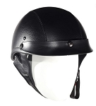Leather Covered Novelty Motorcycle Helmet