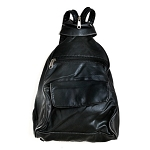 Womens Black Shoulder Bag and BackPack