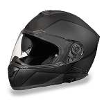 Flat Black Bluetooth Modular Motorcycle Helmet