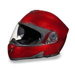 Metallic Cherry Bluetooth Modular Motorcycle Helmet