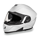 White Bluetooth Modular Motorcycle Helmet