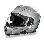Silver Bluetooth Modular Motorcycle Helmet