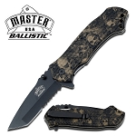 Tan Skull Camo Spring Assisted Knife