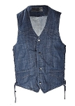 Blue Denim Concealed Carry Vest with Gun Pockets
