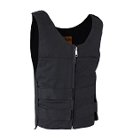 Mens Black Canvas Vest With Multiple Straps