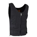 Mens Black Canvas Vest With Multiple Straps