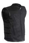 Men's Side Strap Textile Vest With Gun Pockets