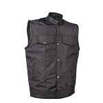 Mens Textile Motorcycle Vest Concealed Carry