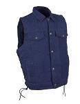Men's Blue Denim Concealed Carry Vest