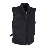 Men's Black Denim Motorcycle Club Vests