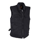 Men's Black Denim Motorcycle Club Vests