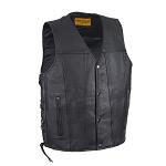 Mens Leather Vest With Concealed Gun Pockets