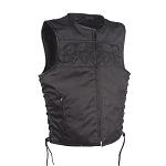 Mens Textile Vest with Reflective Skulls