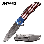 Spring Assisted American Flag Knife