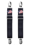 American Flag Biker Boot Pant Clips