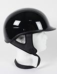 DOT Polo Style Gloss Black Motorcycle Helmet