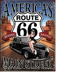 Route 66 America's Main Street Metal Sign