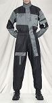 1 Piece Motorcycle Rain Suit Black/Gray