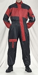 1 Piece Motorcycle Rain Suit Black/Red