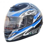 DOT Blue Graphic Full Face Motorcycle Helmet