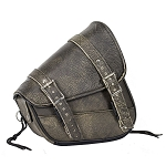 Brown Leather Right Side Motorcycle Swing Arm Bag