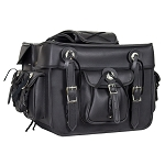 Black Concealed Carry Motorcycle Saddlebags