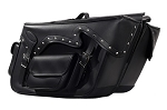 Throw-Over Motorcycle Saddlebags with Studs