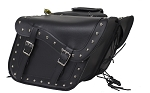 Concealed Carry Motorcycle Saddlebags with Studs