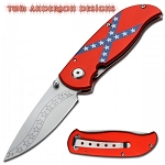 Rebel Confederate Flag Folding Knife