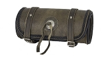 Brown Leather Motorcycle Tool Bag with Concho
