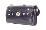 Motorcycle Windshield Bag With Studs & Turn Knob