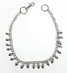 Biker Necklace with Chrome Skulls