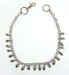 Biker Necklace with Chrome Skulls
